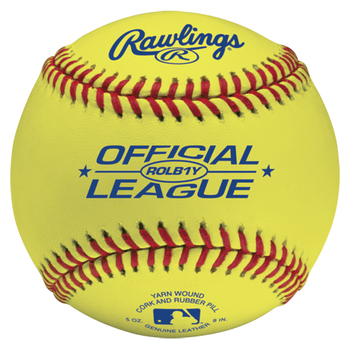 RAWLINGS ROLB1Y Optic Yellow Leather Training Baseball